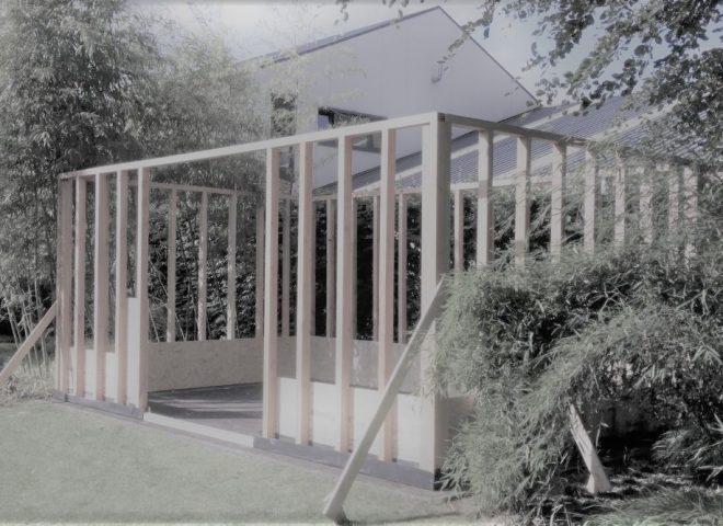 houtskelet, tuinberging, oregon, strak, modern