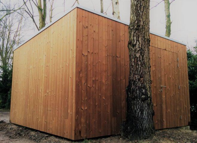 tuinberging, tuinhuis, thermowood, strak, modern, cube4garden, garden house
