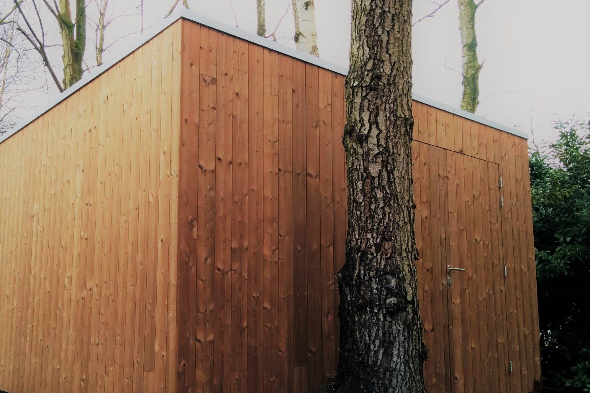 thermowood, tuinberging, strak, modern